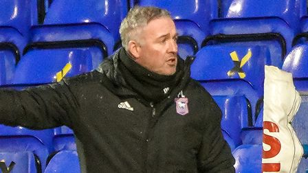 Town manager Paul Lambert pictured during the match.