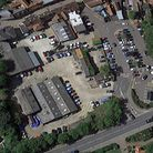 The supermarket is planned for a site in Halesworth town centre Picture: GOOGLE EARTH