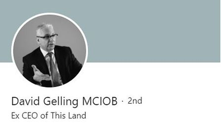 When you want the world to know you're available maybe? David Gelling's entry on LinkedIn, a social media networking site.