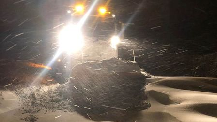 Snowdrifts are piling higher than ploughs in Suffolk as Storm Darcy continues to batter the county's roads