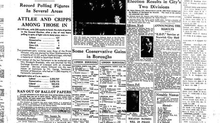 EDP front page for 1950/51 elections