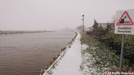 Yarmouth in the snow