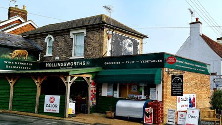 The exterior of Hollingsworth Store