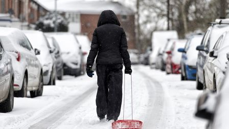 Snow is expected to fall in Suffolk until Thursday
