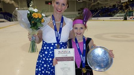 Corrina Haylett with her daughter Isabella, 12, after she won her national title in 2014