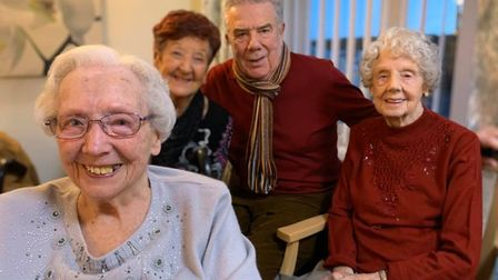 Dorothy and Eileen are sisters-in-law who now both live at Burgh House care home. Picture:Joseph Greiner