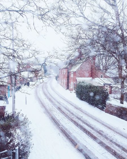Charmaine Milns' picturesque snap of Dereham, that 'looks like a Christmas Card'