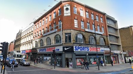 The site today in Whitechapel High Street where a new 19-storey tower would be