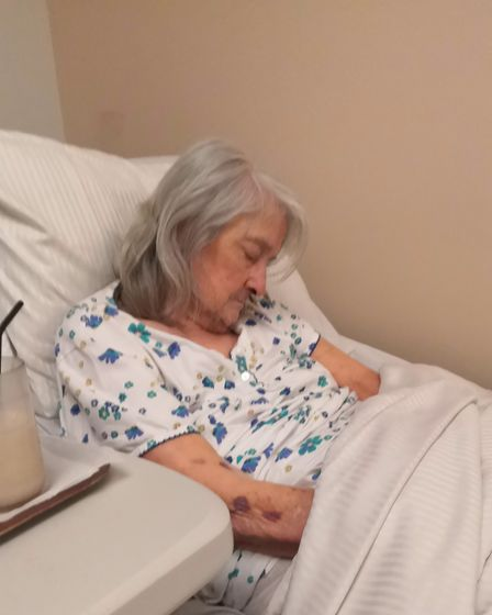 A recent photograph of Ann Neale taken during a visit while she was in poor health