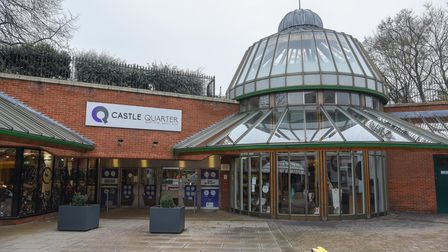 Castle Quarter in Norwich where a vaccination centre has been set up in the food court. Picture: Dan