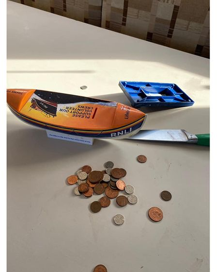 The thieves broke into an RNLI charity box