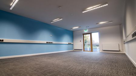 A meeting room at the new YMCA community hub, at the site of the former Jubilee Hall in Aylsham Road, Norwich.