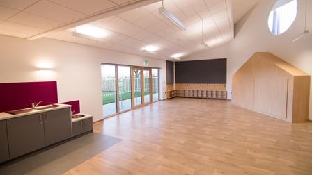 A nursery area for three to four-year-oldsat the new YMCA community hub, at the site of the former Jubilee Hall in...