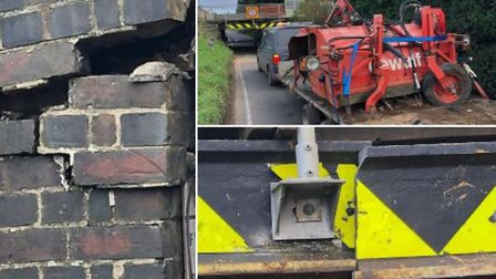 Stonea road has reopened with a new protection beam - more than two years since thebashed railway bridgewas hit.