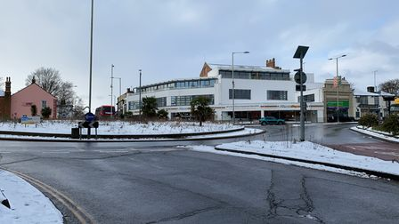 St Stevens Street roundabout, which is usually full of traffic