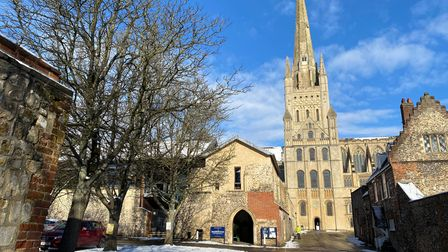 Norwich Cathedral has stood in The Close since1096