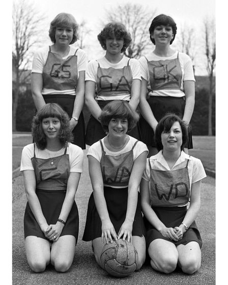 Lloyds Banks netball team in Ipswich in March 1980