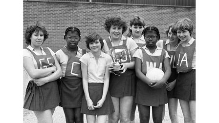 Westbourne High School netball team in March 1980
