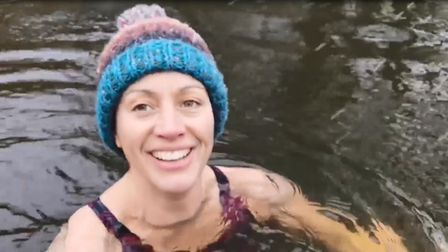 Emma Williams, 41,the founder of Reflect Health and Wellbeing based in Thetford, has been filming herself swimming in the...