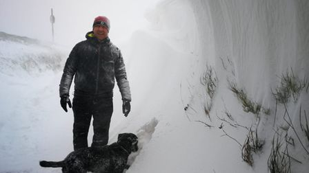 A large snowdrift in Southrepps