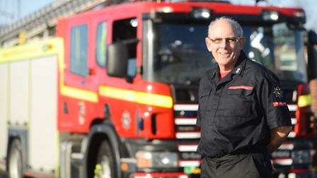 Michael Neeve is retiring after 40 years in the Fire Service. Picture: Ian Burt