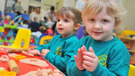 Clover Hill Toddler Group benefit from Comic Relief 'community cash' money last year. Tia page and