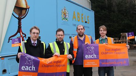 Nikia Korovkins and Kavan McCullagh from Abel Moving Services along with Jason High and Ryan Scott f