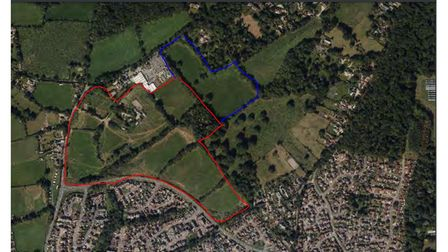 The layout of the Goodmores Farm site in Exmouth which now has permission for 300 homes to be built