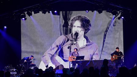 Johnny McDaid, Gary Lightbody and Nathan Connolly of Snow Patrol performing at Global's Make Some No