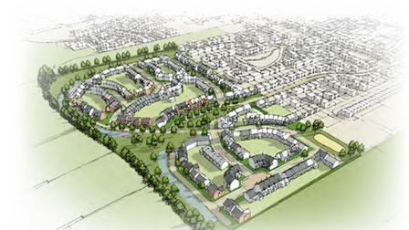 Original application for the 220 homes now being built at Whittlesey by Persimmon