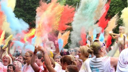 The nook 5km Colour Dash is set to take place on May 3 at Eaton Park in Norwich.Pictured is a previo