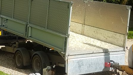 Have you seen this stolen trailer? If so, contact Suffolk police