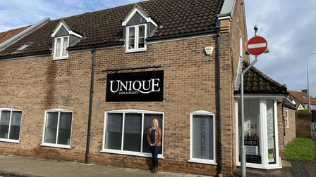Victoria Poole, owner of Unique hair and beauty, on Castle Street, in Thetford.