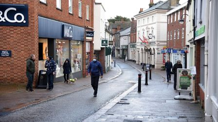 Town centres across east Suffolk have been among the sectors hardest hit by the pandemic