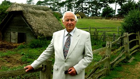 eadt news - Dr Stanley WestDr Stanley West at the West Stow Country Park and the Anglo Saxon Vil