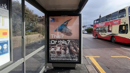 The RSPB has put its adverts outside EDF offices and at bust stops