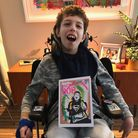 Noah, also known as Background Bob, has brought out a book of his artwork - with a little help from celebrities