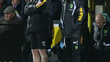 Norwich manager Alex Neil endured an eventful Carrow Road debut against Cardiff City. Picture by Pau