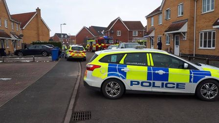Emergency services attended the house fire in Great Cornard
