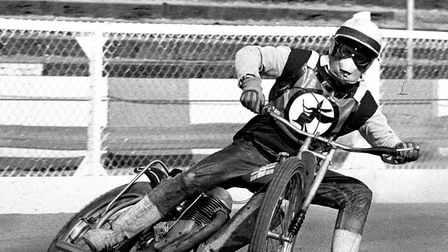 Olle Nygren in action for the Witches in 1972.SPEEDWAY RIDER STAR MEMORIESES 25 02 03