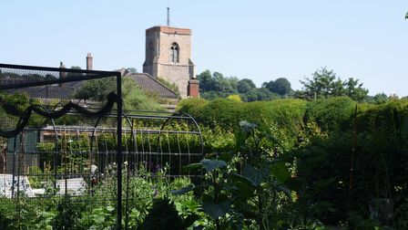 The vegetable garden in the Bishop's Garden which is opening as lockdown restrictions are eased. Pic