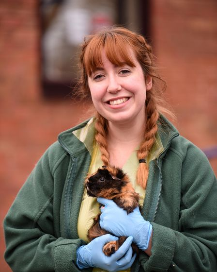 Megan Cooper with Norman from Melton Veterinary Surgery Picture: CHARLOTTE BOND