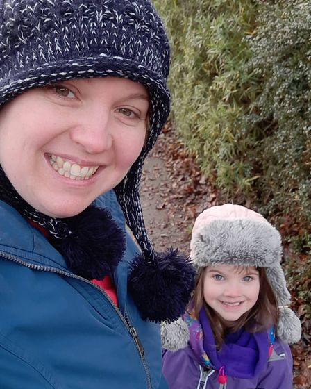 5-year-old Emilia is opting for pickles and pancakes this year. Pictured with her mum Laura Anderson.