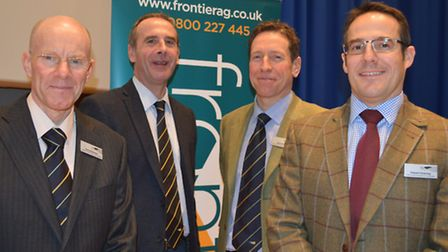 Frontier Agricultures 3D Thinking seminar. Pictured from left: Head of trials and innovation David R