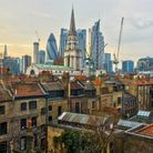 Historic Spitalfields with City encroachment creeping ever closer