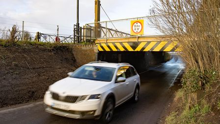 Stonea Rail underpass damaged soon after reopening.Wednesday 10 February 2021. Picture by Terry Ha