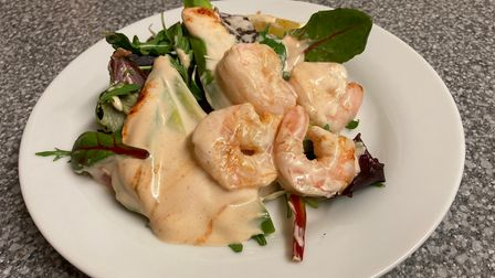 Prawn cocktail on a plate