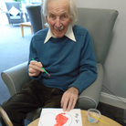 Windmill House residents Brenda and Mike colourin their hearts which wereincluded in small packages for Wymondham walkers to find while out and about in the town on Valentine's Day.
