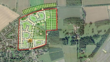 A vision for the proposed development at Badersfield, which is next to the former RAF COltishall airbase.