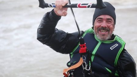Andy Smith, 52, tragically died while kitesurfing at Walberswick beach in Suffolk.